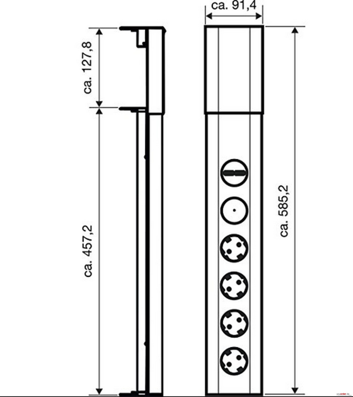 bachmann casia steckdosenelement mit 4 steckdosen und schalter youorder der partner zwischen. Black Bedroom Furniture Sets. Home Design Ideas