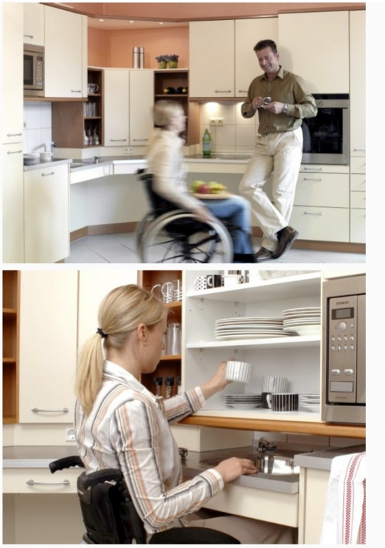 Barrierefreie kuche for Behindertengerechte küche